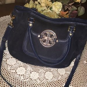 Tory Burch Navy Suede Purse
